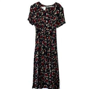 Vintage Betsey Lauren Floral Maxi Dress
